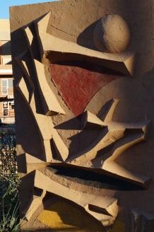 sculpture on Soleri Plaza