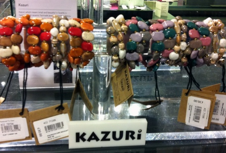 Kazuri beads in John Lewis