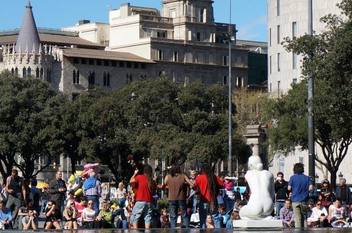 Plaça Catalunya, Easter 2013