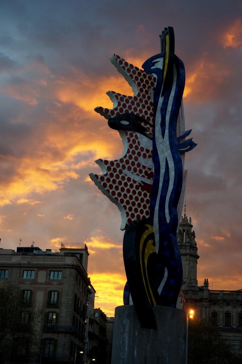 Barcelona clouds