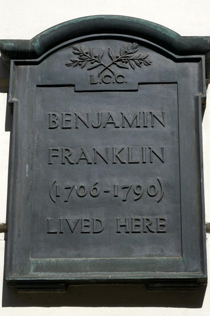 Benjamin Franklin plaque