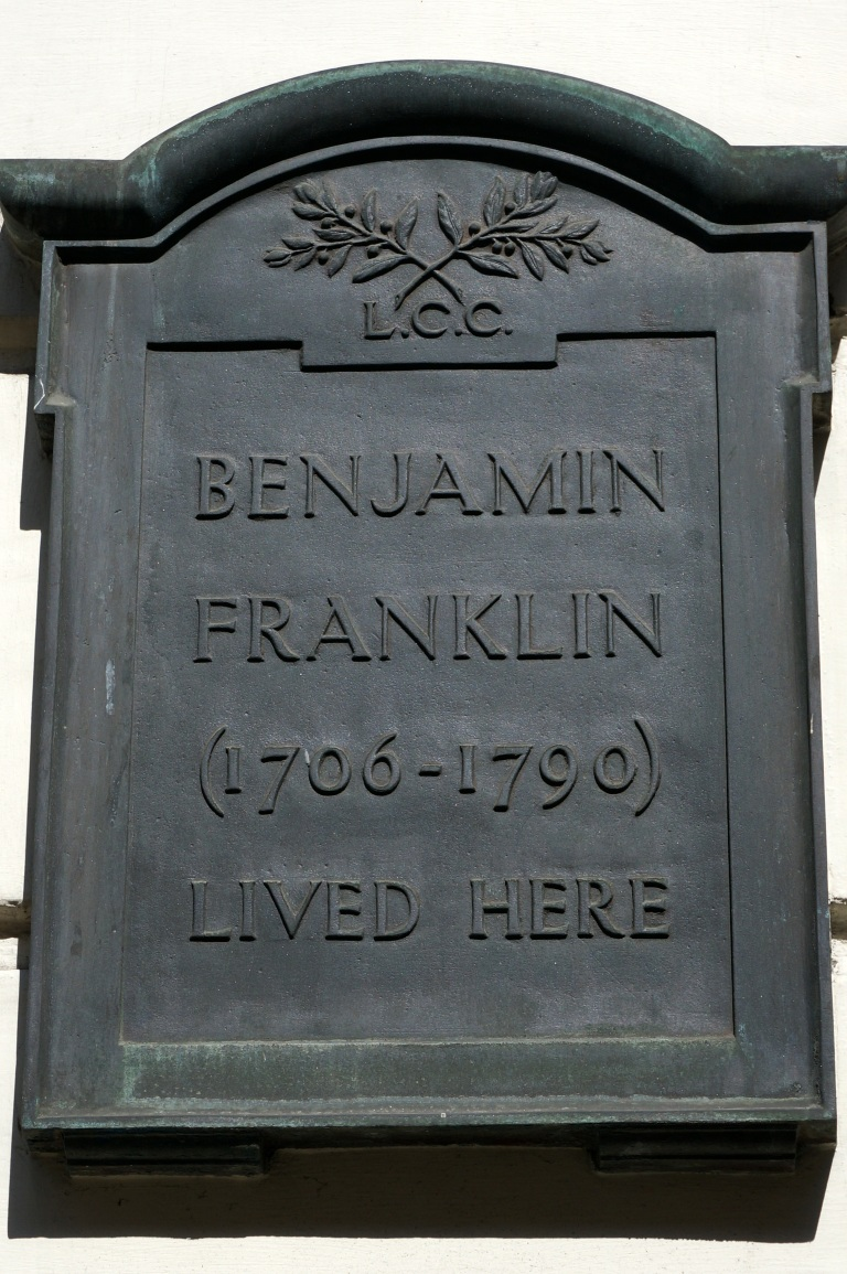 Benjamin Franklin plaque