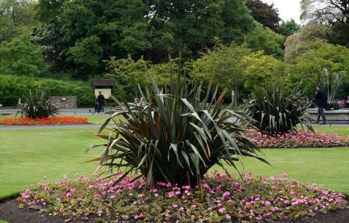 Flower beds, St Stephens Green Park, Dublin