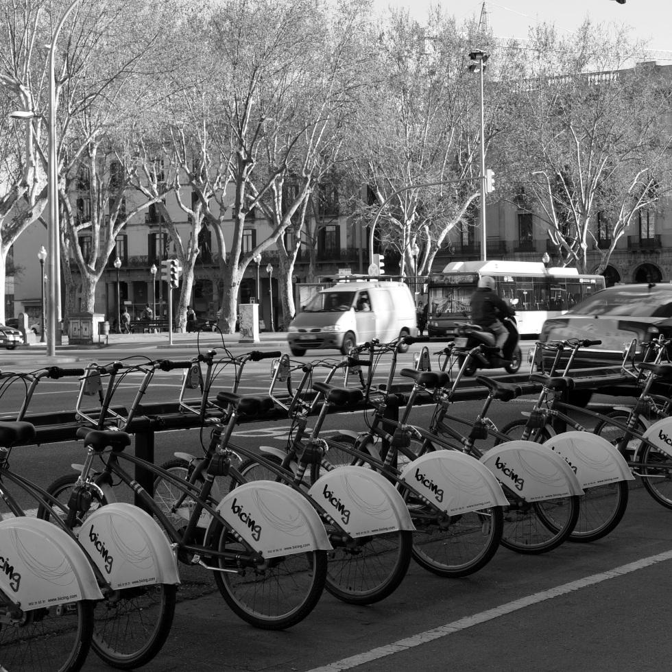 Bicing Bikes in Barcelona