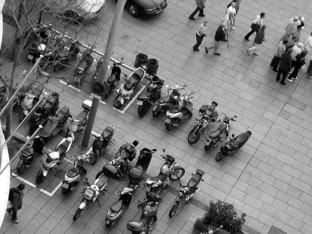 Motorbikes in Barcelona