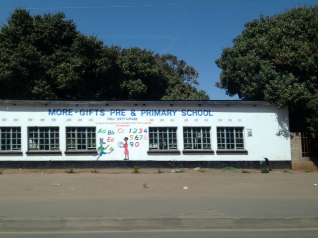 School on the outskirts of Livingstone