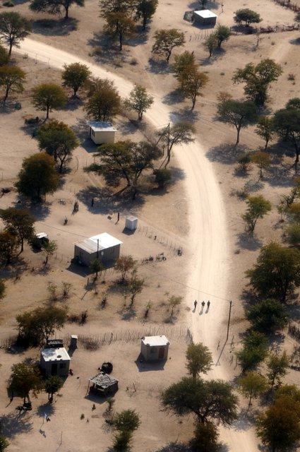 Botswana from above