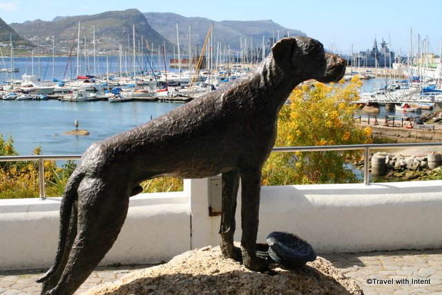 Memorial to a famous sailor in Jubilee Square, Simonstown, Western Cape