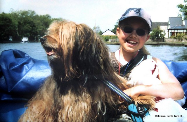 Boating on the Norfolk Broads with my darling Barney