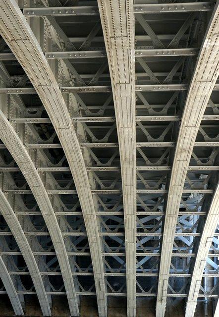 Beneath Blackfriars Rail Bridge