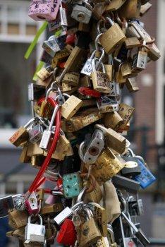 Love Locks in Amsterdam