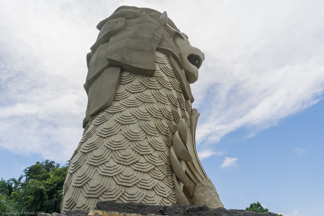 Im Taking You To The Large Merlion On Sentosa Island This Is An Unusual Example For A Fee Can Go Inside And Visit His Head