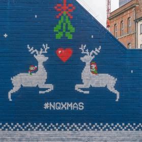 Christmas mural, Northern Quarter, Manchester