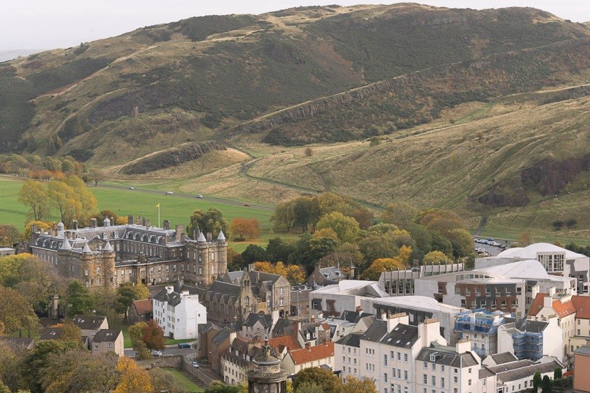 ... and Hollyrood Palace and Arthur's Seat