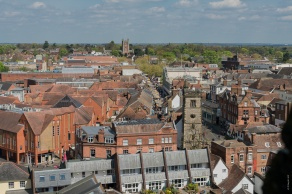 View from Abbey Tower
