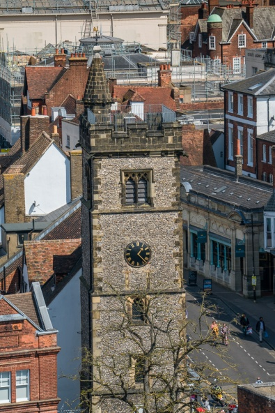 Clock Tower seen from top of Abbey Tower