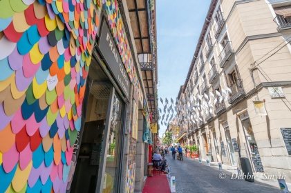 Streets in Las Tetras are highly decorated
