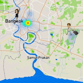 Connection in Bangkok and my daughter was already out there on her own trip