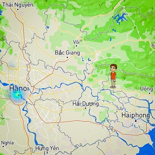 on way back to Hanoi