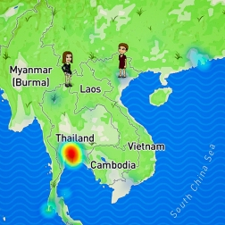 in Hanoi and my daughter is heading into Laos