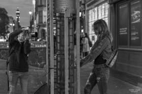 Photographer and model, London
