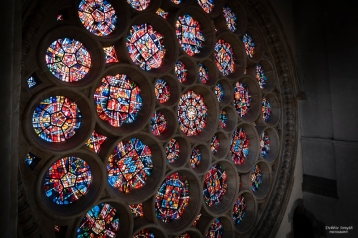 Rose window at St Alban's Cathedral