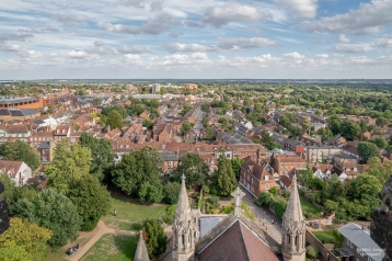 View from St Alban's Cathedral