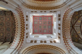 Ceiling inside St Alban's Cathedral