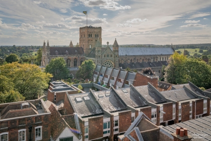 View from Clock Tower to the Cathedral