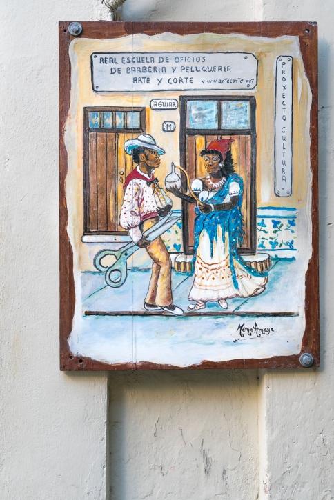 A sign in Havana