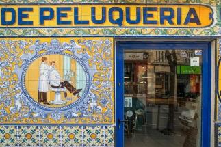 Hairdresser but now bar, Madrid
