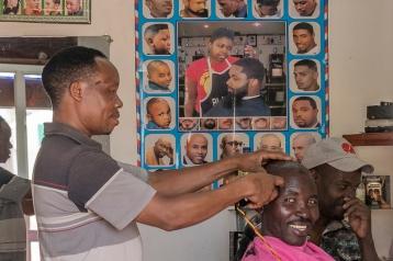 Barber in Tanzania