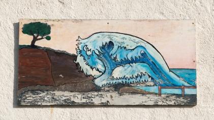 street art in Sidmouth, Devon