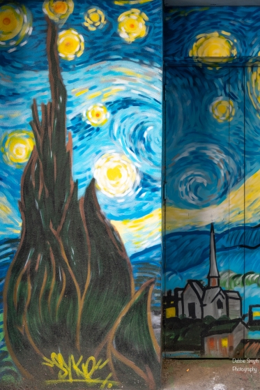 Starry Night by Syke - street art in Dundee
