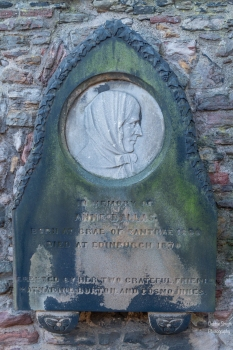 In memory of Anne dallas, erected by 2 friends