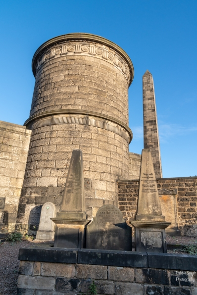 David Hume's mausoleum and Martyrs' Monument