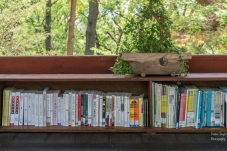 Handy bookshelf in a temple at Changdeokgung Palace, Seoul