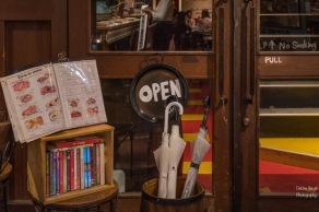 Reading material at a restaurant in Shibuya, Tokyo
