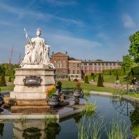 Queen Victoria in reflection