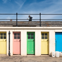 Colourful doors at North Berwick