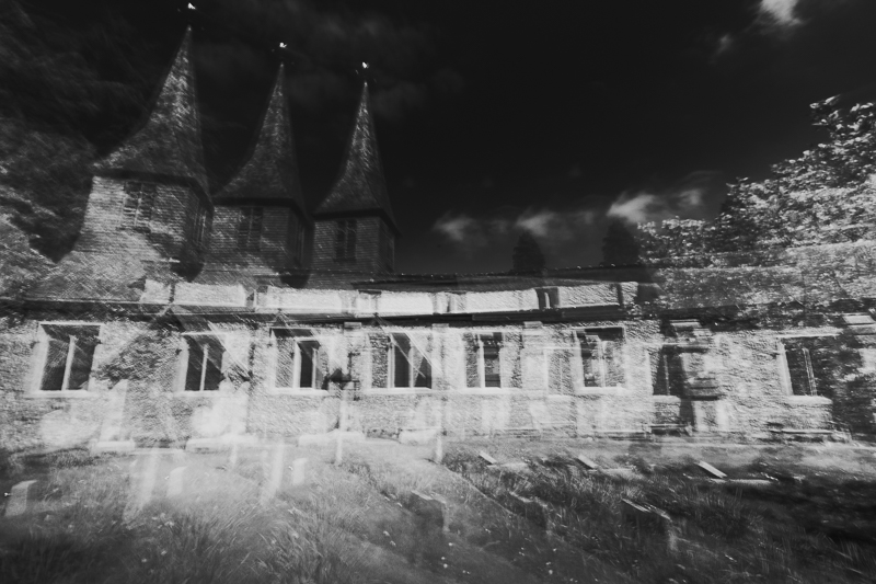 St Stephens Church with 3 spires created by ICM intentional camera movement