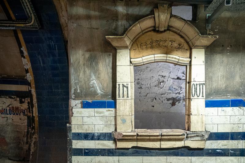 old ticket window, Euston, London