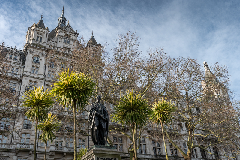 Statue of Henry Bartle Frere on embankment, London