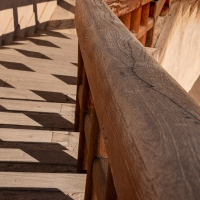 Geometric shadows at Nizwa Fort