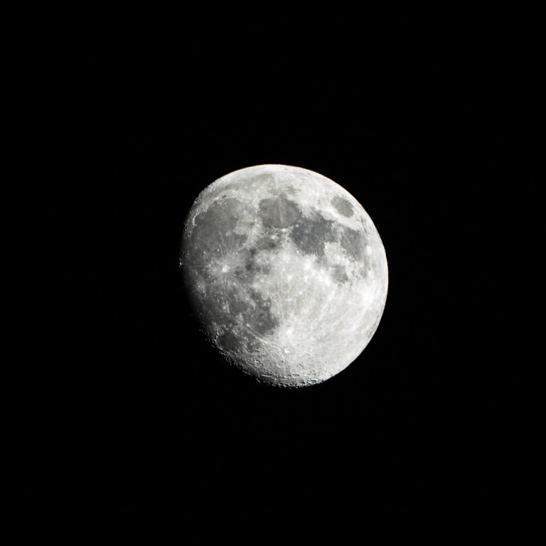 An almost full moon