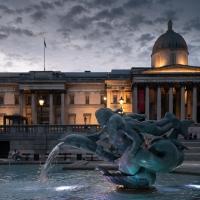 Dusk at Trafalgar Square