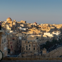 Golden view of Valletta