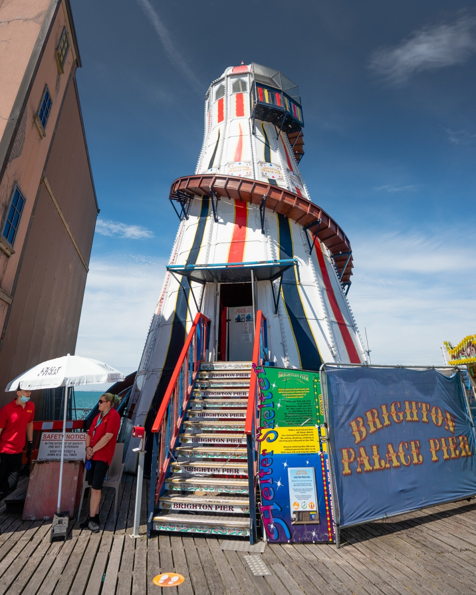 Helter skelter on Brighton P{her