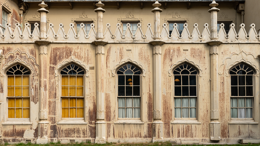 Windows of the Royal Pavilion in Brighton