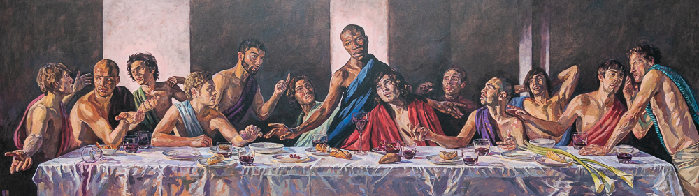 Full view of Last Supper with Black Jesus
